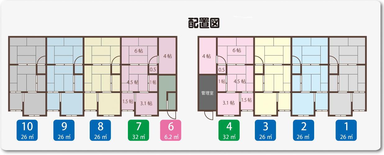 レンタル収納庫狭山文化 配置図